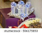 gift box and ribbon | Shutterstock . vector #506175853