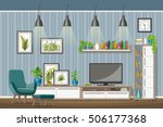 illustration of interior... | Shutterstock .eps vector #506177368
