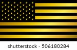usa flag vector  gold and black | Shutterstock .eps vector #506180284