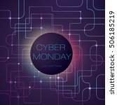 cyber bright background ...   Shutterstock .eps vector #506185219