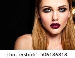 sensual glamour portrait of... | Shutterstock . vector #506186818