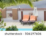 outdoor swimming pool with... | Shutterstock . vector #506197606