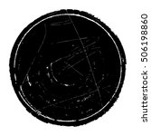 round grunge shape design