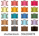 travel color suitcase icons ... | Shutterstock .eps vector #506204878