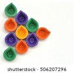 colorful diwali diyas or clay... | Shutterstock . vector #506207296