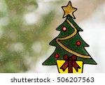 christmas window stickers... | Shutterstock . vector #506207563