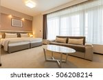 modern spacious hotel room     Shutterstock . vector #506208214