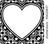 baroque heart design  vector... | Shutterstock .eps vector #50620837