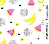 summer seamless pattern.... | Shutterstock .eps vector #506228308