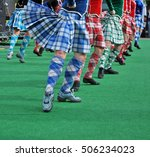 traditional scottish highland... | Shutterstock . vector #506234023