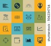set of 16 universal editable... | Shutterstock .eps vector #506234716