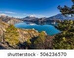 serre poncon lake from le... | Shutterstock . vector #506236570