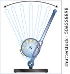 oscillating lever | Shutterstock .eps vector #506238898