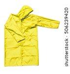 raincoat isolated on white... | Shutterstock . vector #506239420