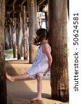 little cute girl at the beach   Shutterstock . vector #50624581