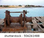 Rusty Winch On A Pier Near The...