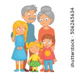 cheerful grandparents  grandson ... | Shutterstock .eps vector #506265634