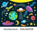 cute illustration of outer... | Shutterstock .eps vector #506268508