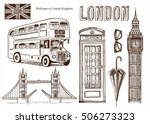 vector london landmark symbols  ... | Shutterstock .eps vector #506273323