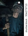 portrait of miner  | Shutterstock . vector #506273713