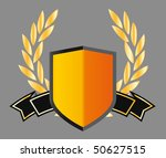shield with ribbons and laurels | Shutterstock .eps vector #50627515