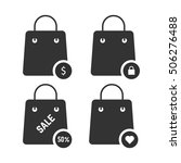 set of black shopping bags....