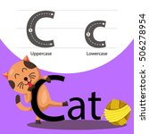 Illustrator Of Cat With C Font