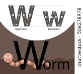 illustrator of worm with w font | Shutterstock .eps vector #506278978