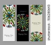 banner set  floral mandala... | Shutterstock .eps vector #506280643