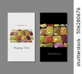 business cards design  fruit... | Shutterstock .eps vector #506280676