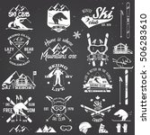 Illustration Ski Club Retro...