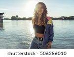 close up portrait of  pretty... | Shutterstock . vector #506286010