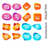 collection speech bubble... | Shutterstock .eps vector #506287504