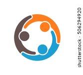people logo  family logo ... | Shutterstock .eps vector #506294920