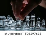 side view of chess board with... | Shutterstock . vector #506297638