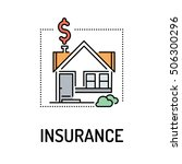 insurance line icon | Shutterstock .eps vector #506300296