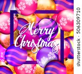 christmas. merry christmas text.... | Shutterstock .eps vector #506309710