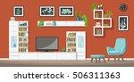 illustration of interior... | Shutterstock .eps vector #506311363