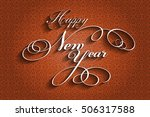 stylish happy new year text | Shutterstock .eps vector #506317588