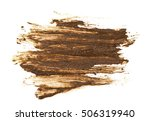 drops of mud sprayed isolated... | Shutterstock . vector #506319940