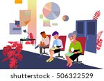people in the office to fill... | Shutterstock .eps vector #506322529