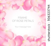 background with rose petals.... | Shutterstock .eps vector #506323744