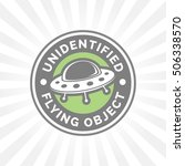 ufo icon. unidentified flying... | Shutterstock .eps vector #506338570