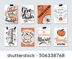 vector set of thanksgiving... | Shutterstock .eps vector #506338768