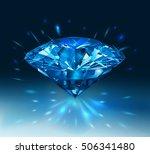 beautiful blue gemstone... | Shutterstock .eps vector #506341480
