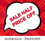 big winter sale poster with... | Shutterstock .eps vector #506342404