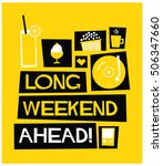 long weekend ahead   flat style ... | Shutterstock .eps vector #506347660