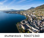 aerial view of montreux... | Shutterstock . vector #506371360