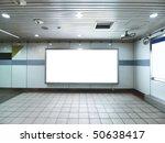 blank billboard in underground   Shutterstock . vector #50638417