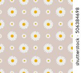 chamomile floral pattern.... | Shutterstock .eps vector #506384698